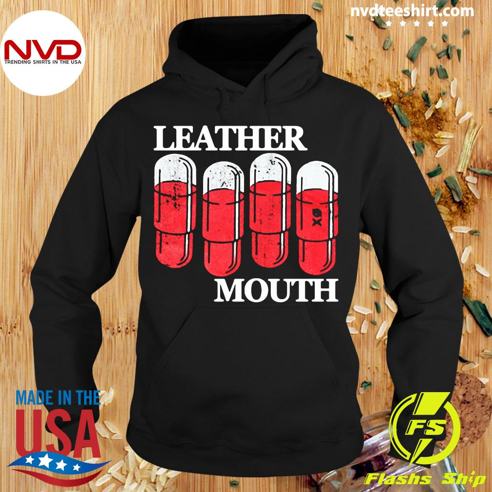 Leather Mouth Shirt Hoodie