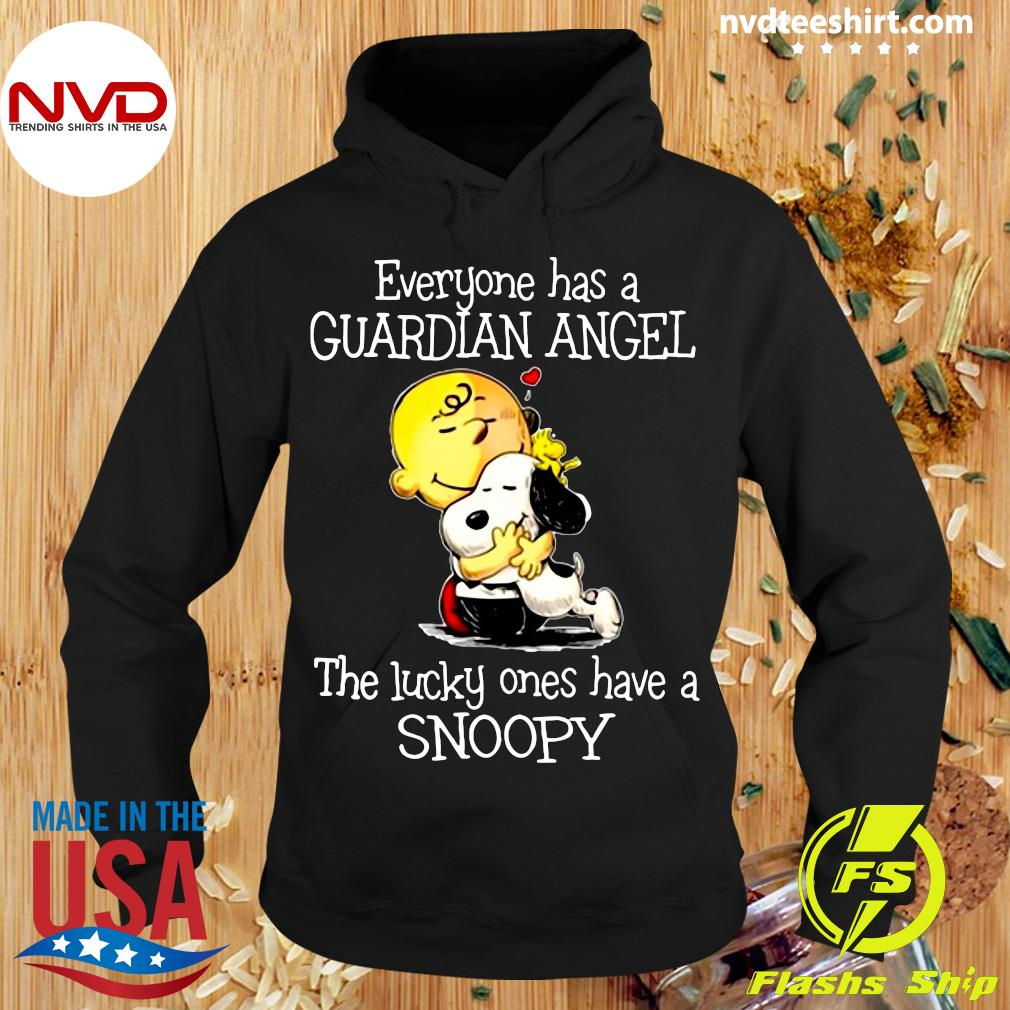 Official Everyone Has A Guardian Angel The Lucky Ones Have A Snoopy Shirt Hoodie