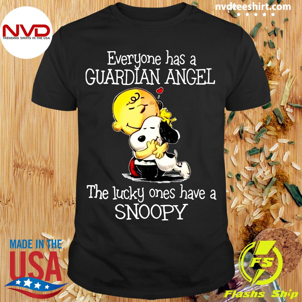 Official Everyone Has A Guardian Angel The Lucky Ones Have A Snoopy Shirt