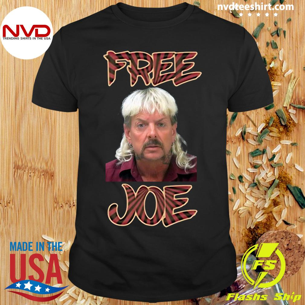 Official Free Joe Exotic Tiger King Pop Art Shirt