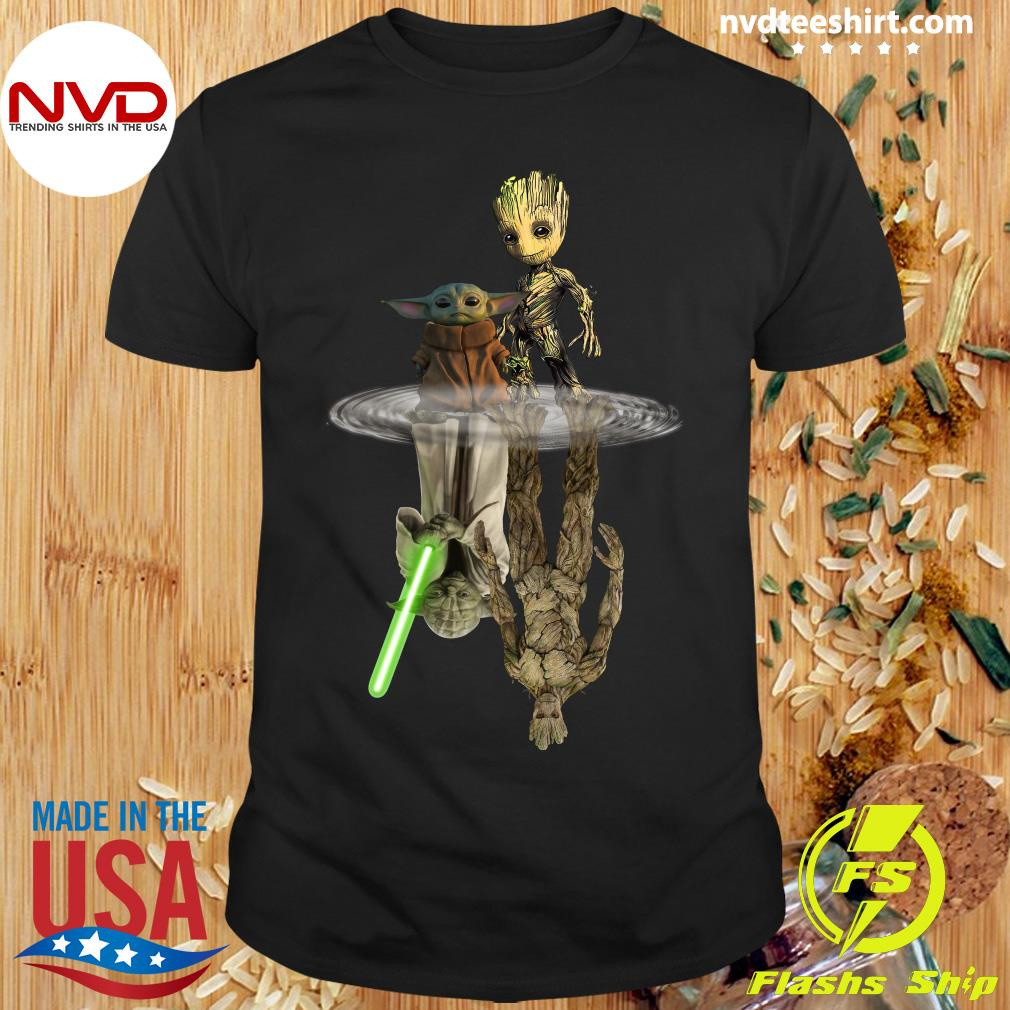 Official Groot And Yoda Water Reflection Shirt