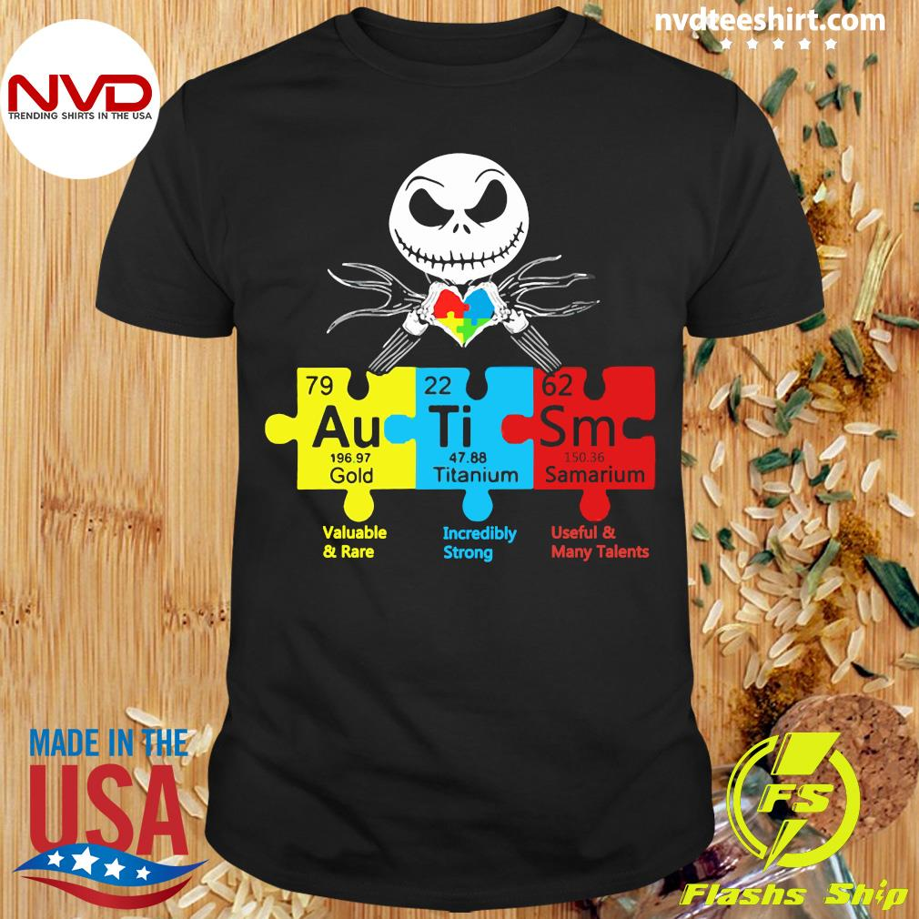 Official Jack Skellington Autism Gold Titanium Samarium Shirt