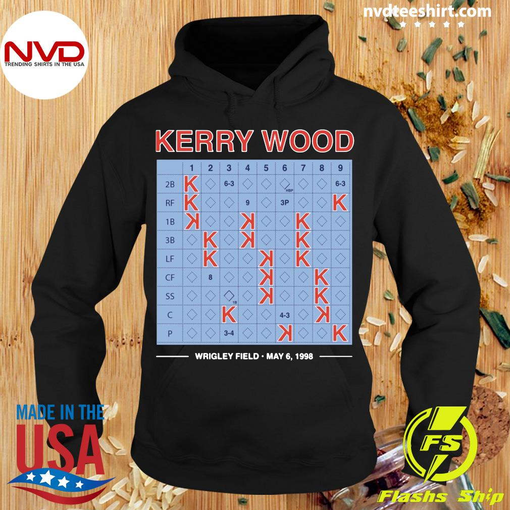 Official Kerry Wood 20 Strikeout Scorecard Shirt Hoodie