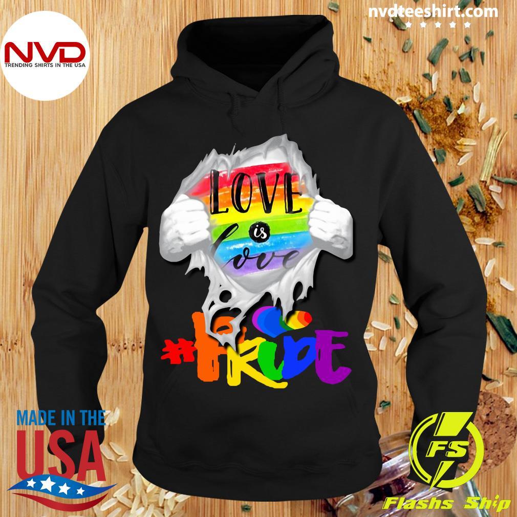 Official LGBT Love Is Love Shirt Hoodie