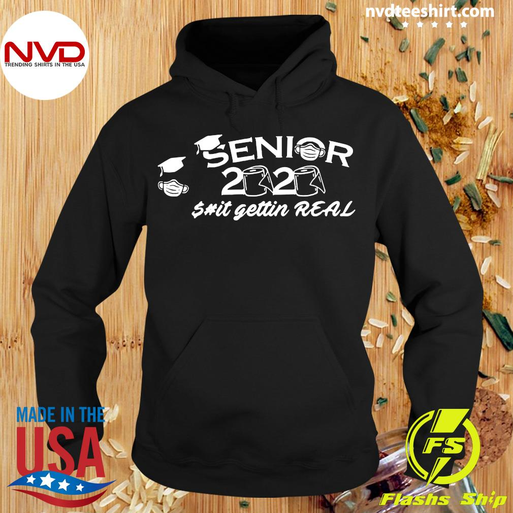 Official Seniors 2020 Getting Real Funny Toilet Paper Graduation Day Class of Shirt Hoodie