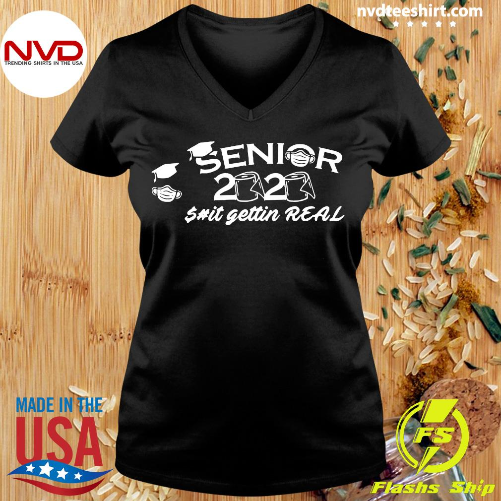 Official Seniors 2020 Getting Real Funny Toilet Paper Graduation Day Class of Shirt Ladies tee