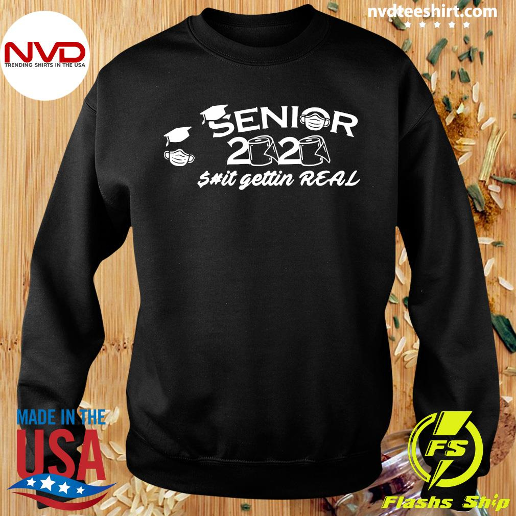 Official Seniors 2020 Getting Real Funny Toilet Paper Graduation Day Class of Shirt Sweater