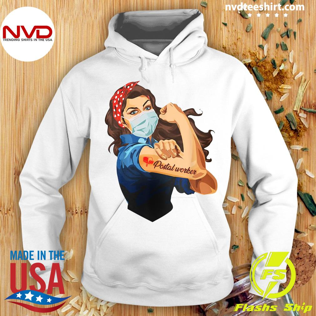 Official Strong Girl Tattoos Proud Postal Worker Shirt Hoodie