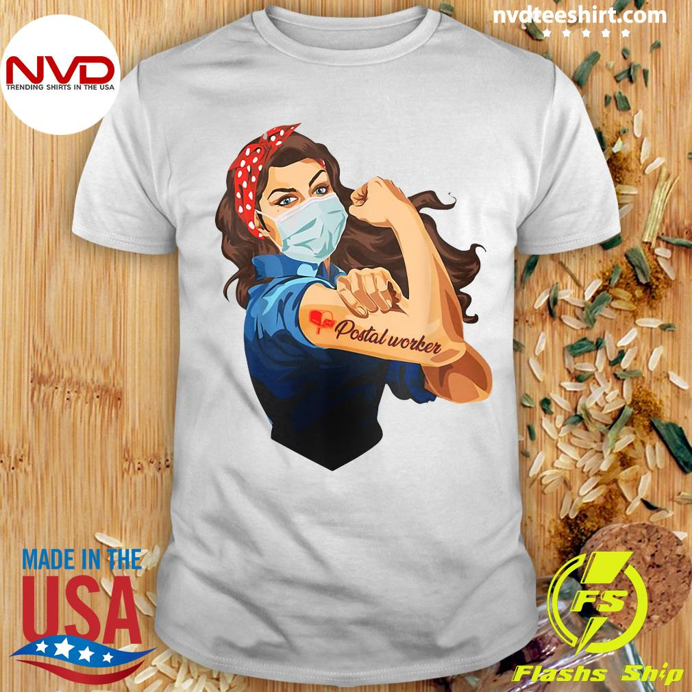 Official Strong Girl Tattoos Proud Postal Worker Shirt