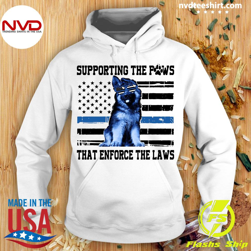 Paw American flag Supporting The Paws That Enforce The Laws Shirt Hoodie