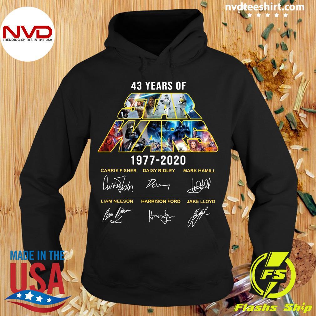 Signature Handmade 43 Years Of Star Wars 1977-2020 Shirt Hoodie