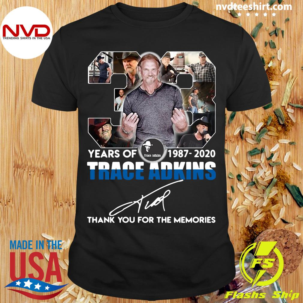 Alan JackSon 33 Years Of 1987 2020 Trace Adkins Thank You For The Memories Shirt