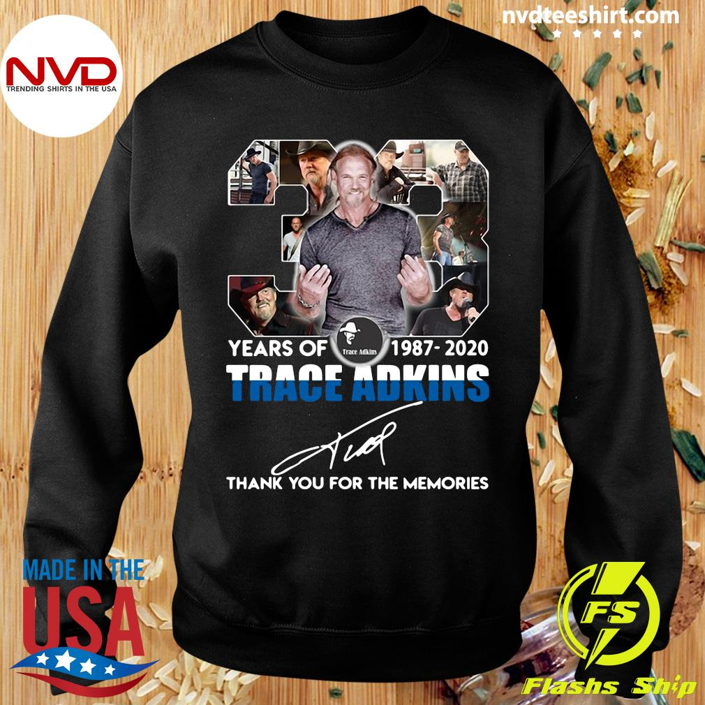 Alan JackSon 33 Years Of 1987 2020 Trace Adkins Thank You For The Memories Shirt Sweater
