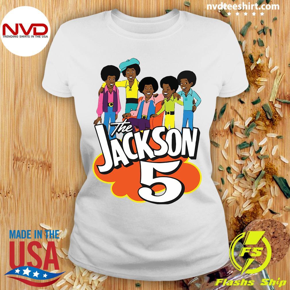 Clearlystyle The Jackson 5 Cartoon Vintage Shirt Ladies tee