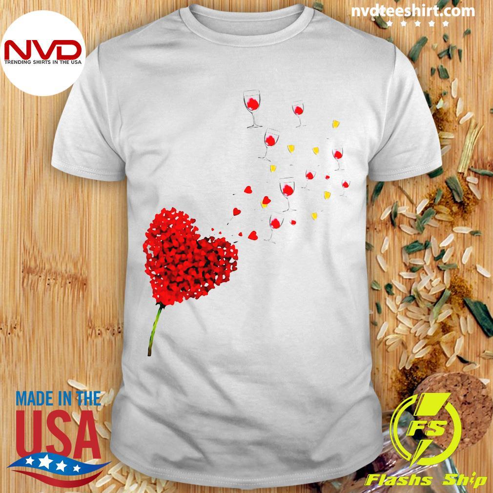 Love Wine Heart Shirt