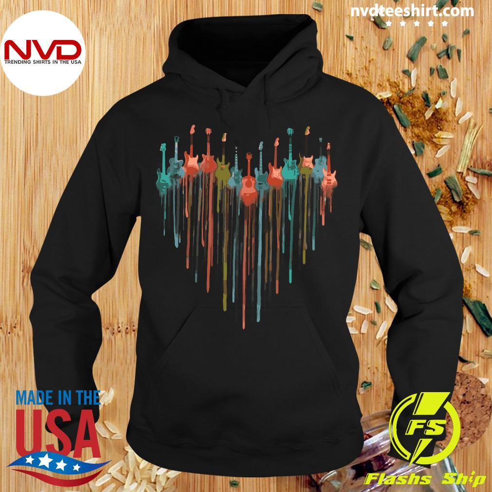 Official Guitar Watercolor Heart Shirt Hoodie