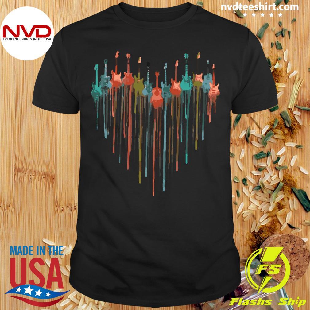 Official Guitar Watercolor Heart Shirt