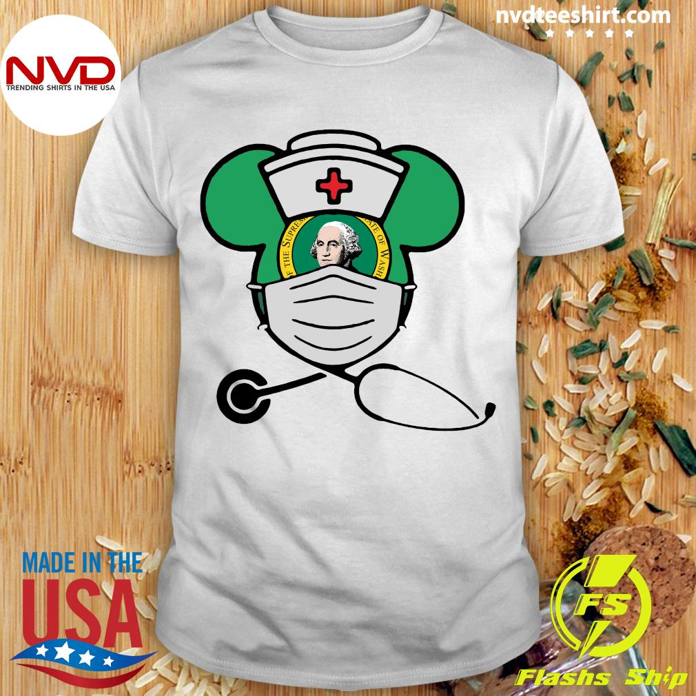 Official Mickey Nurse Face Mask George Washington Shirt