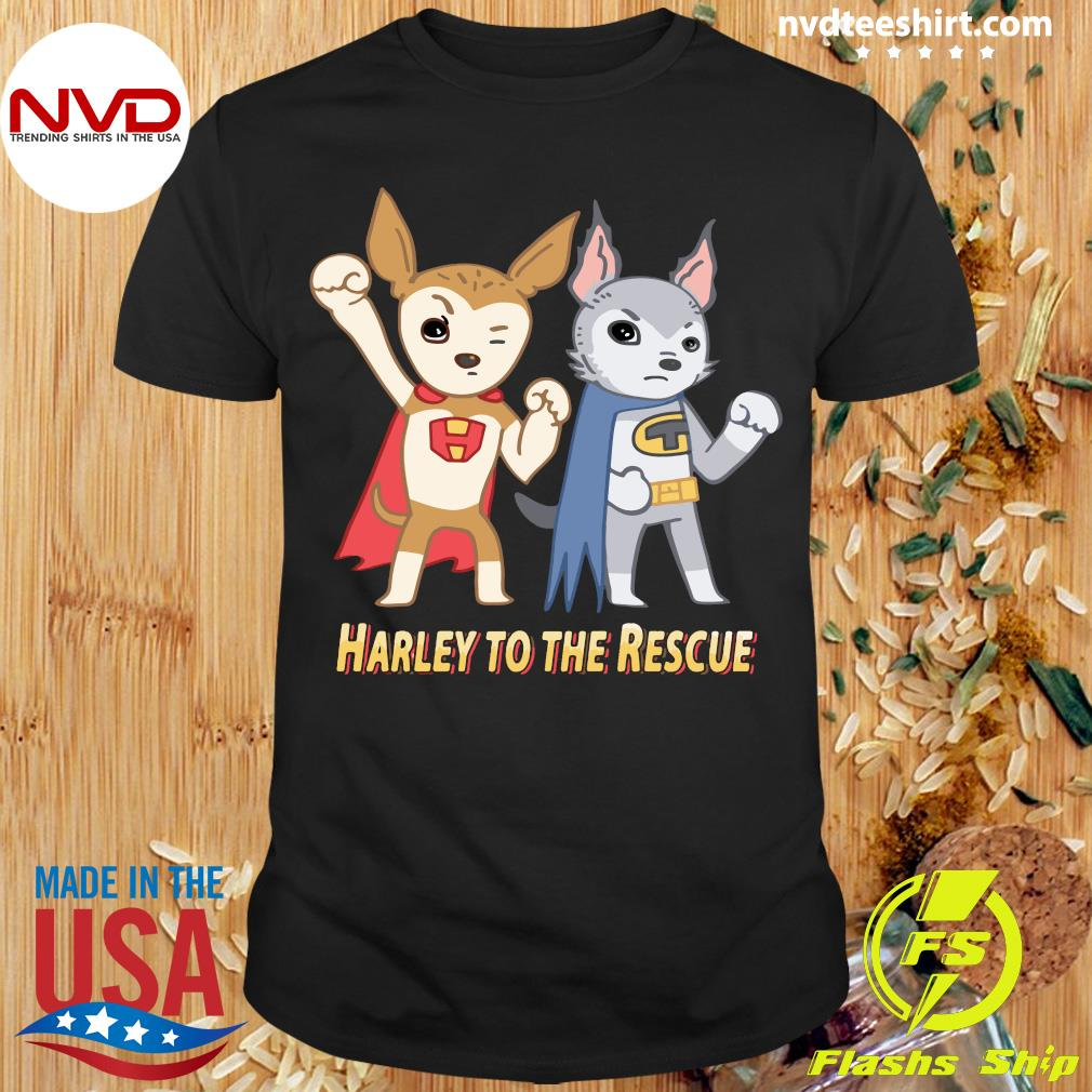 Superheroes Against Puppy Mills Harley To The Rescue Shirt