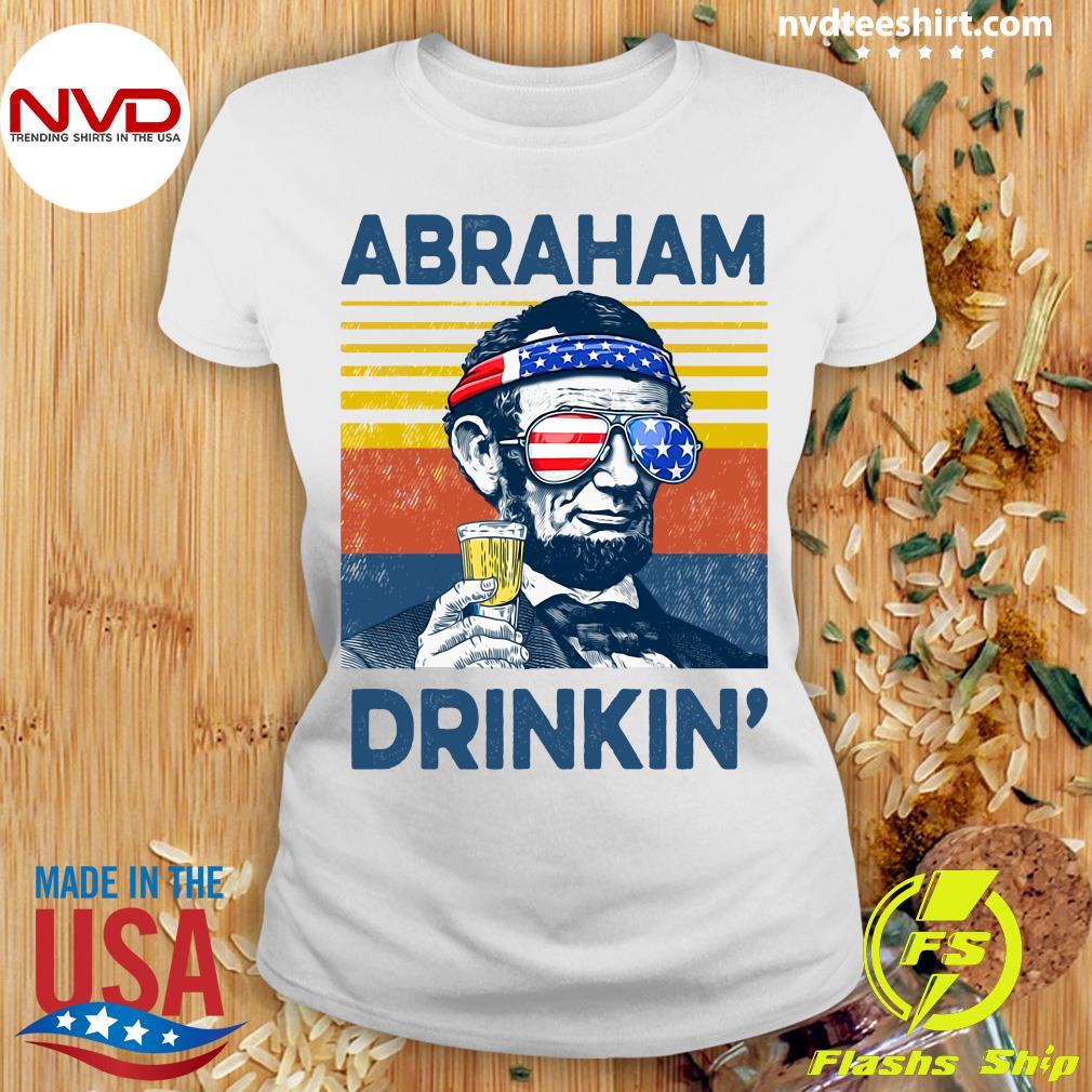Beer Drinker Gifts For Men Abraham Drinkin' Shirt