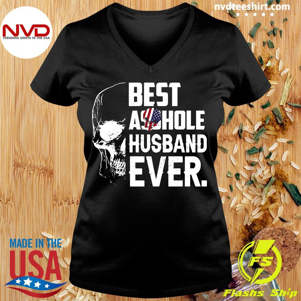 Best Assohle Husband Ever Skull Shirt Ladies tee