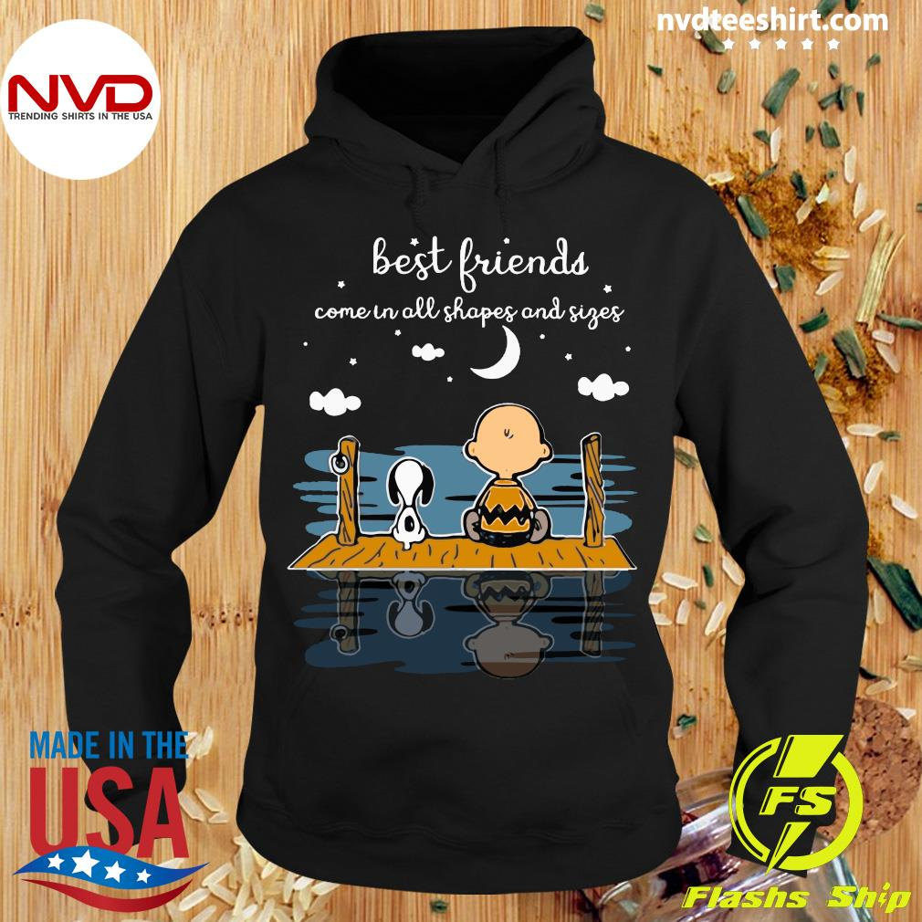 Best Friends Come In All Shapes And Sizes Snoopy And Peanut Shirt Hoodie