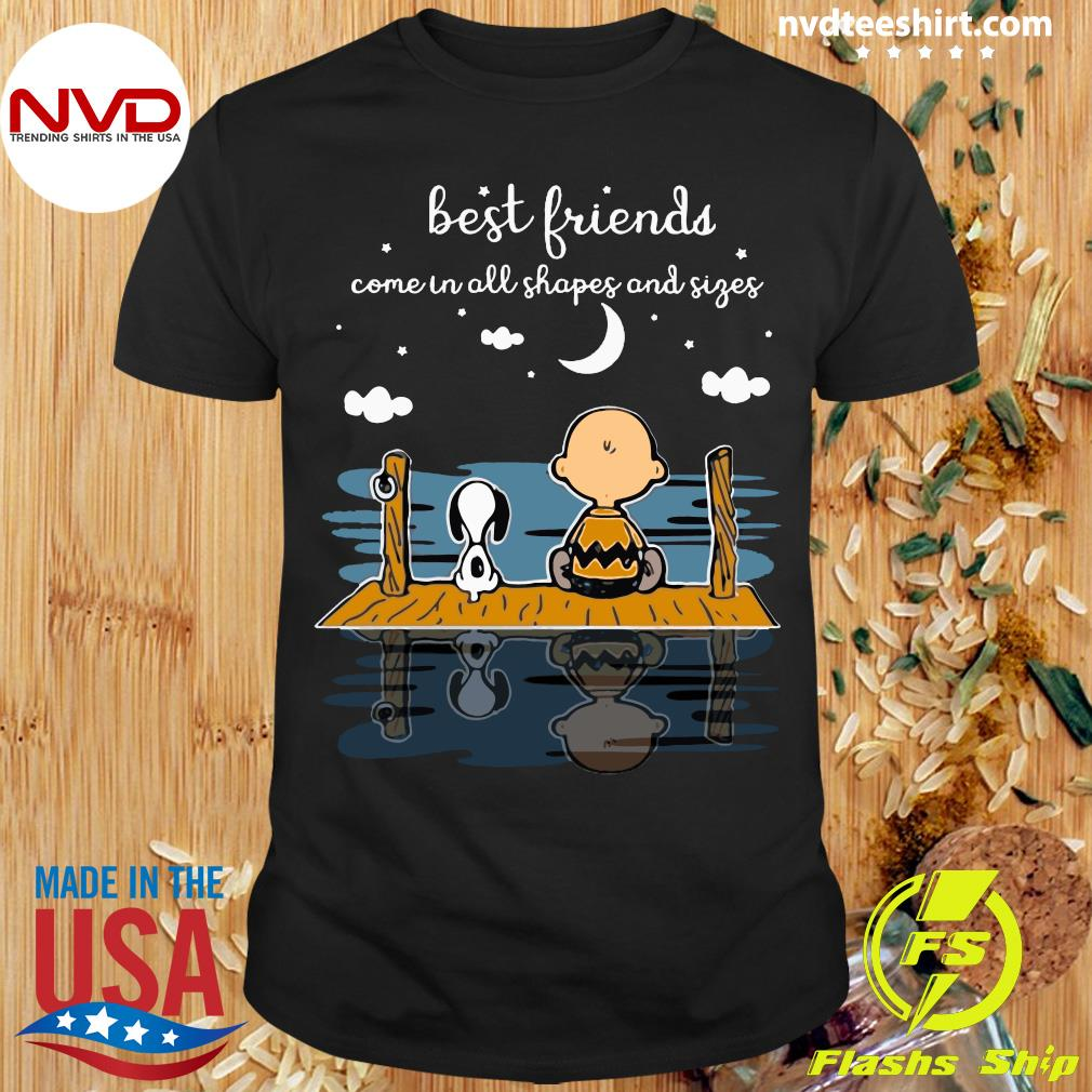 Best Friends Come In All Shapes And Sizes Snoopy And Peanut Shirt