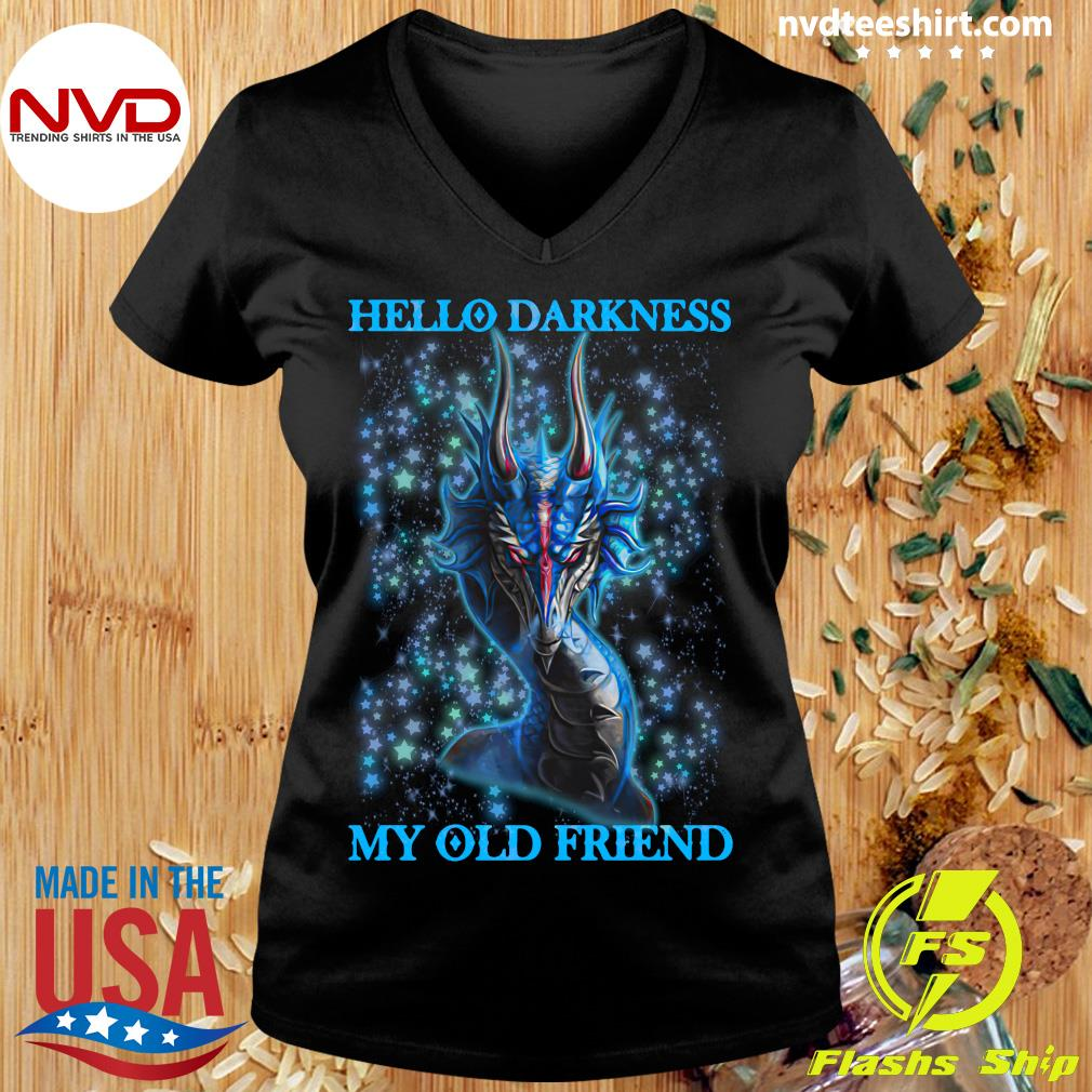 Dragon Hello Darkness My Old Friend Shirt Ladies tee