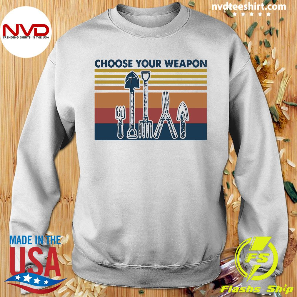 Famer Choose Your Weapon Vintage Shirt Sweater