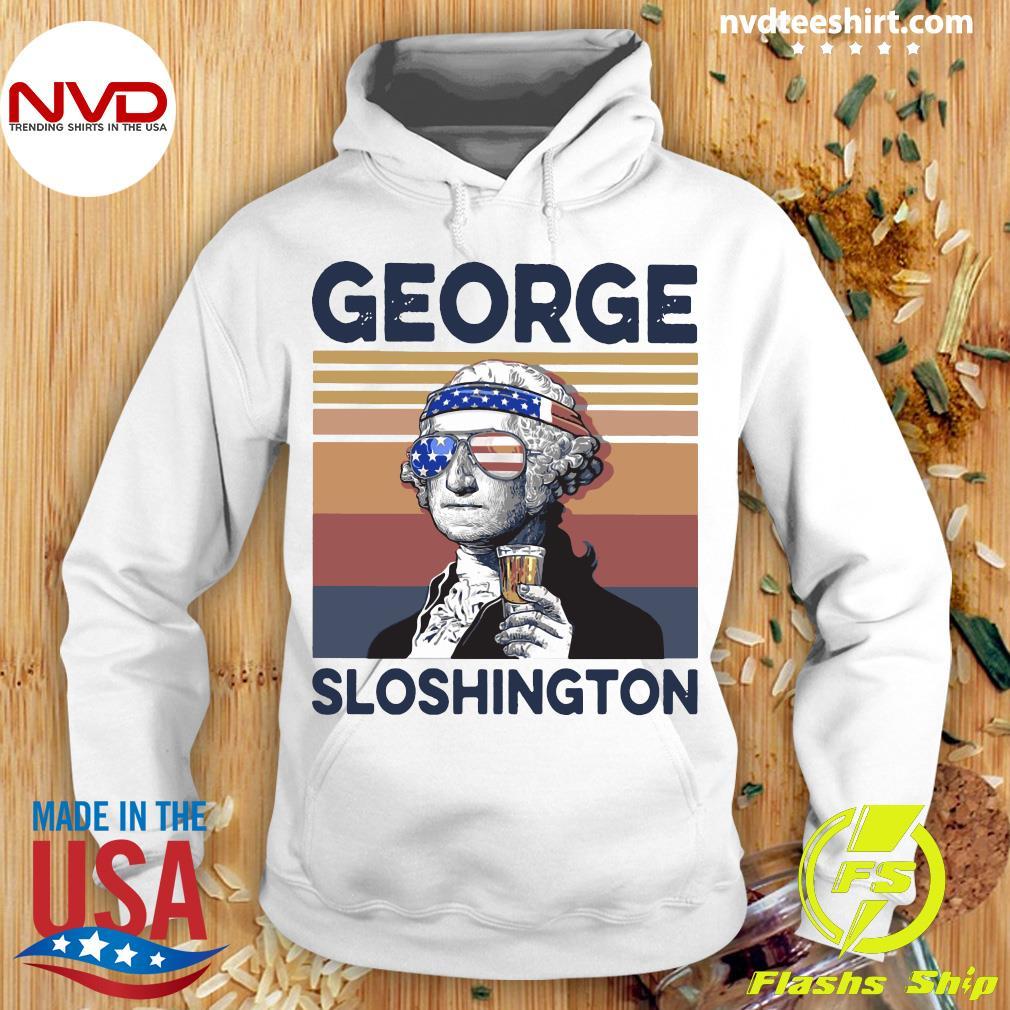 George Sloshington Vintage Shirt Hoodie