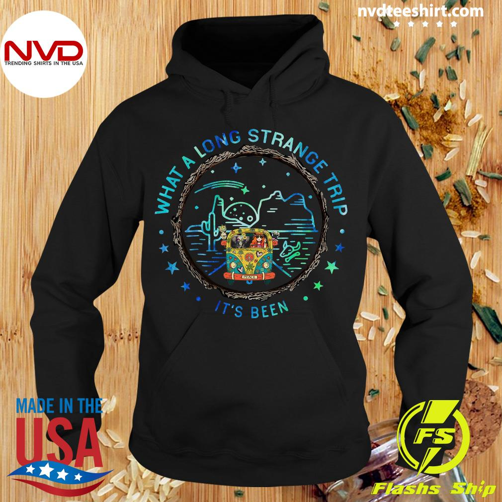 Hippie Bus Peace What A Long Strange Trip It's Been Shirt Hoodie
