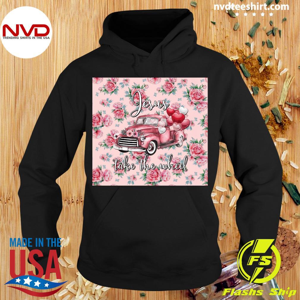 Leopard Valentines Truck Jesus Take The Wheel Shirt Hoodie