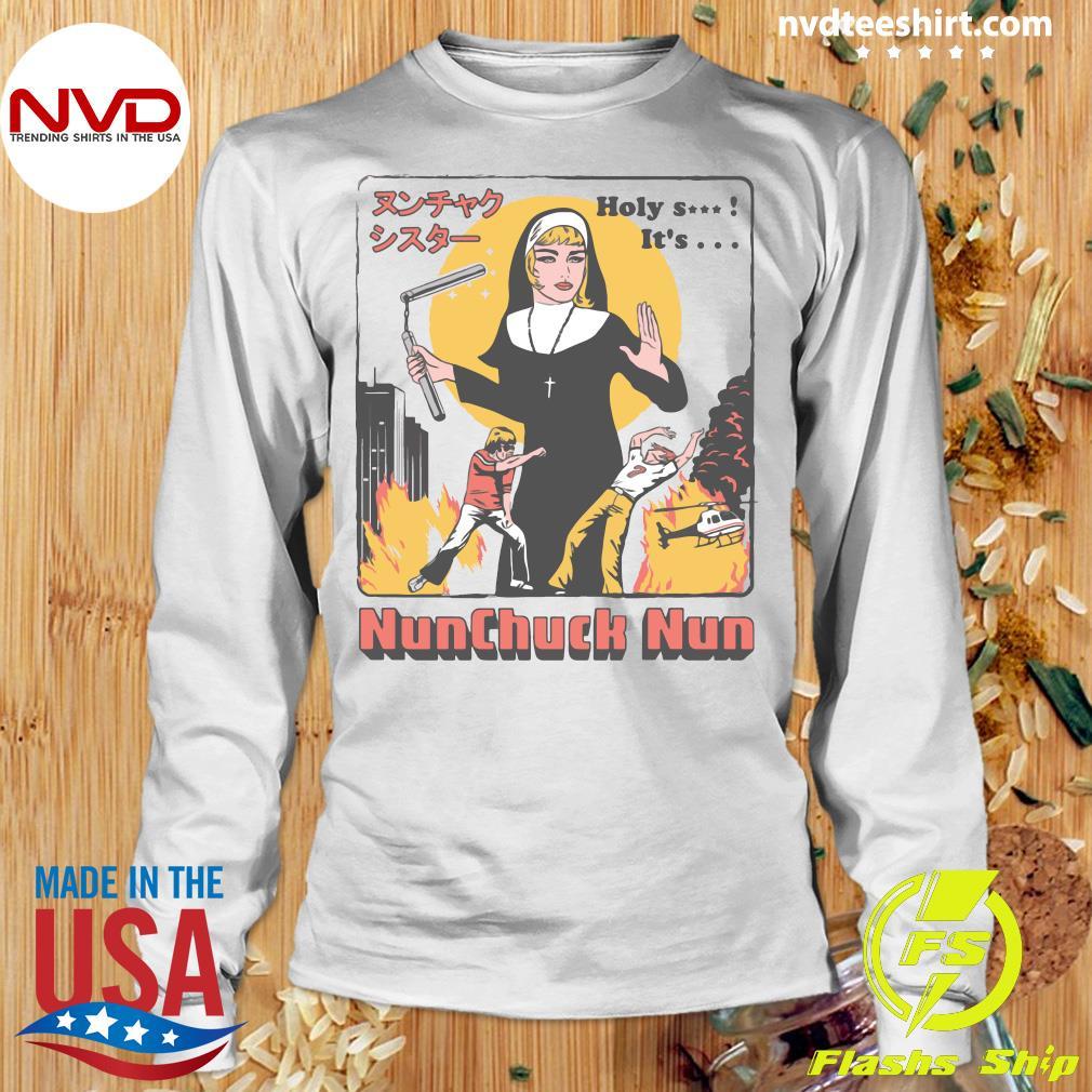 Nunchuck Nun Tarantino Shirt Longsleeve