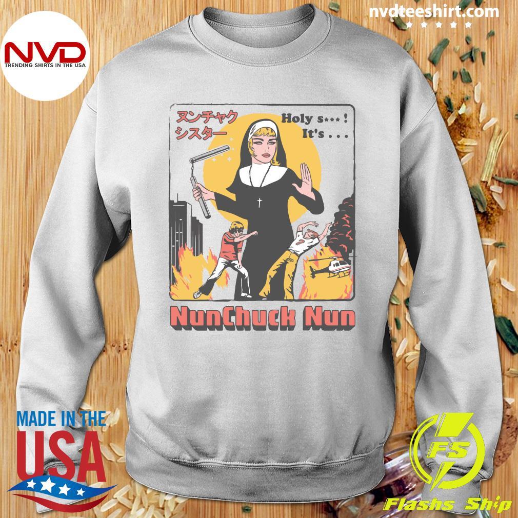 Nunchuck Nun Tarantino Shirt Sweater