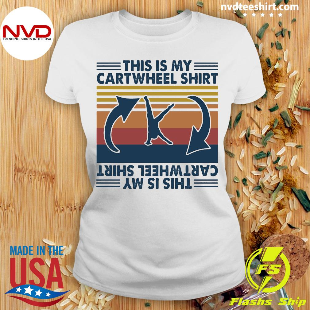 Official Gymnastic This Is My Cartwheel Shirt Ladies tee