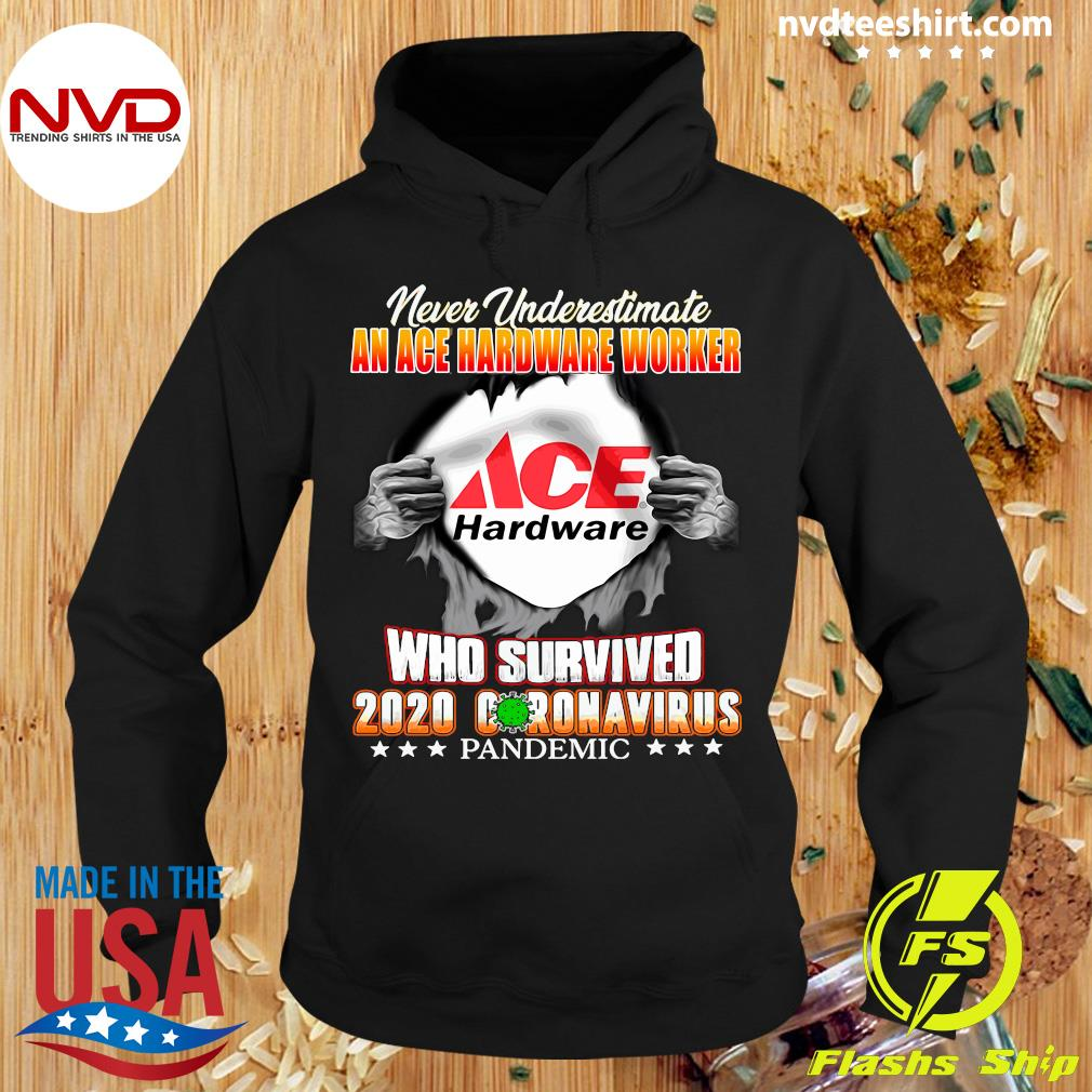 Official Never Underestimate An Ace Hardware Worker Who Survived 2020 Coronavirus Shirt Hoodie