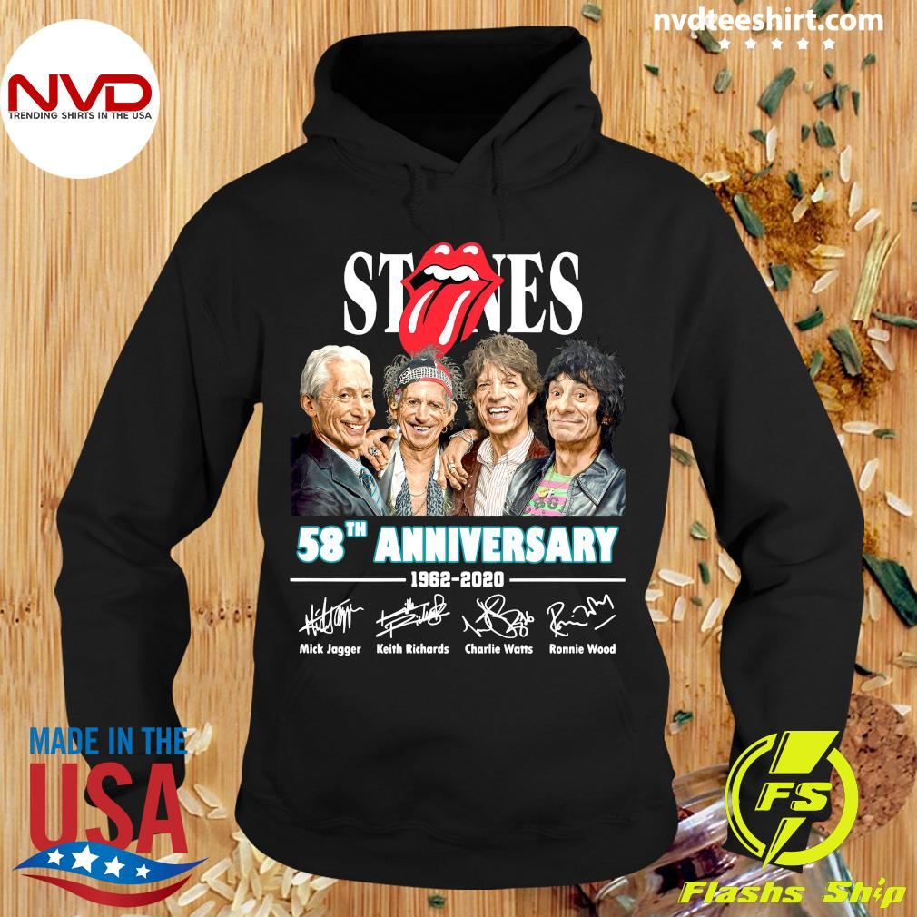 Official Rolling Stones 58th Anniversary 1962-2020 Signatures Shirt Hoodie