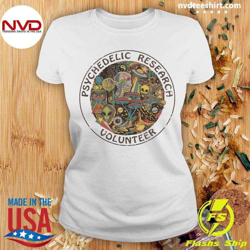Psychedelic Research Volunteer Vintage Shirt Ladies tee