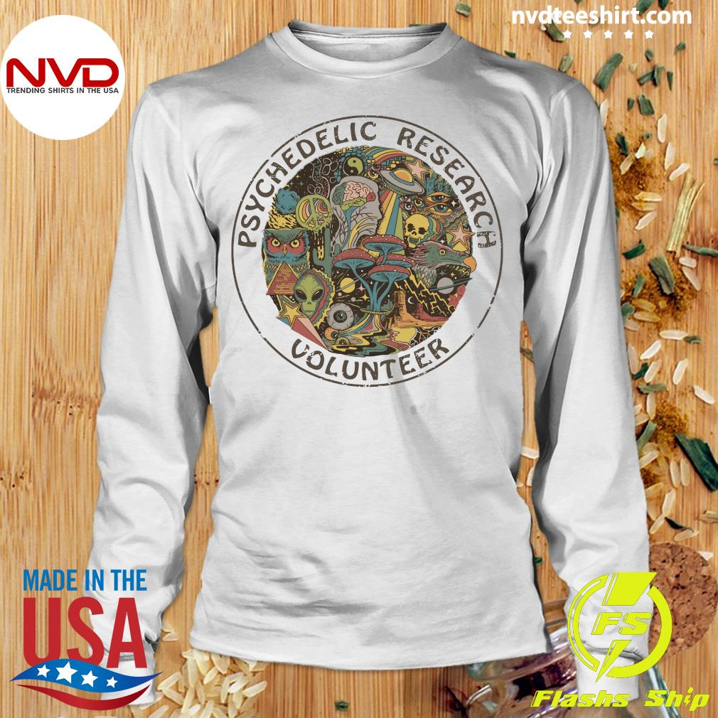 Psychedelic Research Volunteer Vintage Shirt Longsleeve
