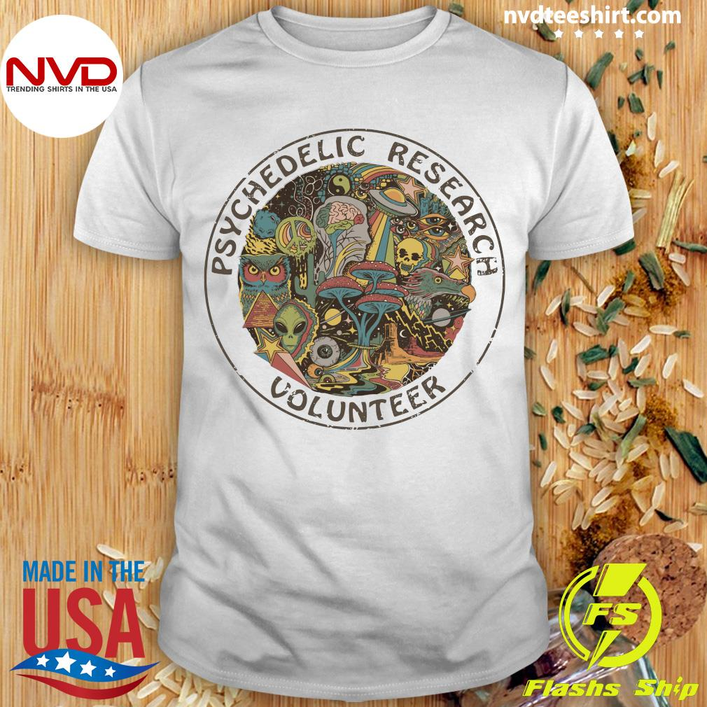Psychedelic Research Volunteer Vintage Shirt
