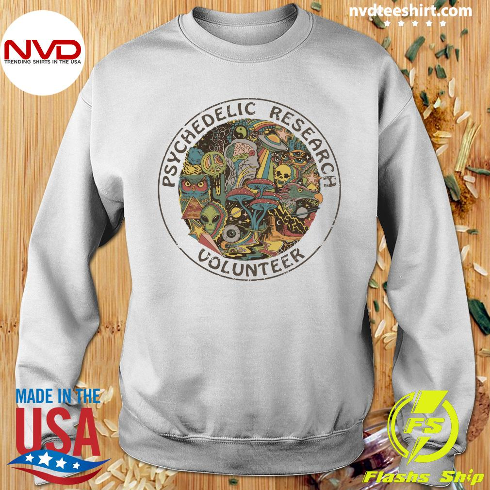 Psychedelic Research Volunteer Vintage Shirt Sweater