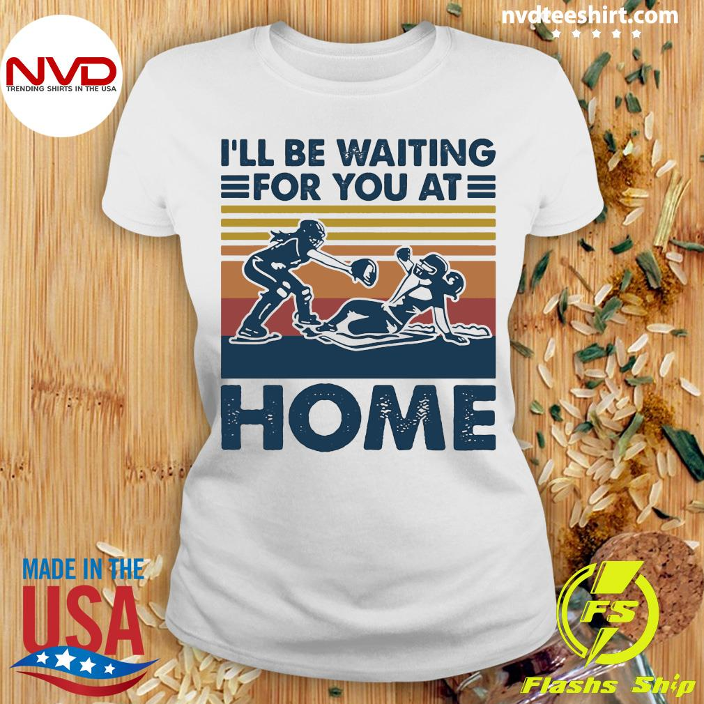 Vintage I'll Be Waiting For You At Home Rugby Shirt Ladies tee