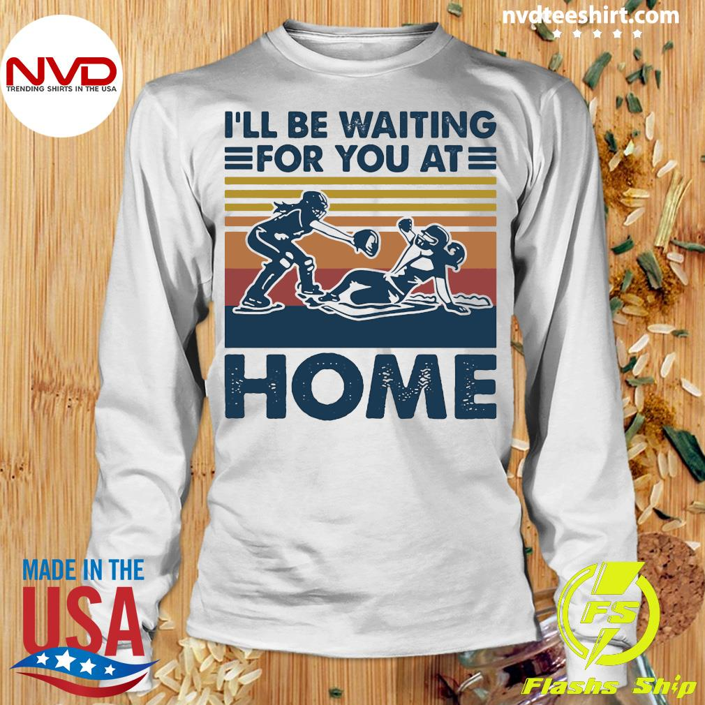 Vintage I'll Be Waiting For You At Home Rugby Shirt Longsleeve