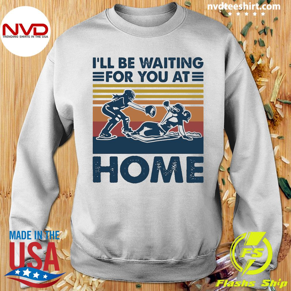 Vintage I'll Be Waiting For You At Home Rugby Shirt Sweater