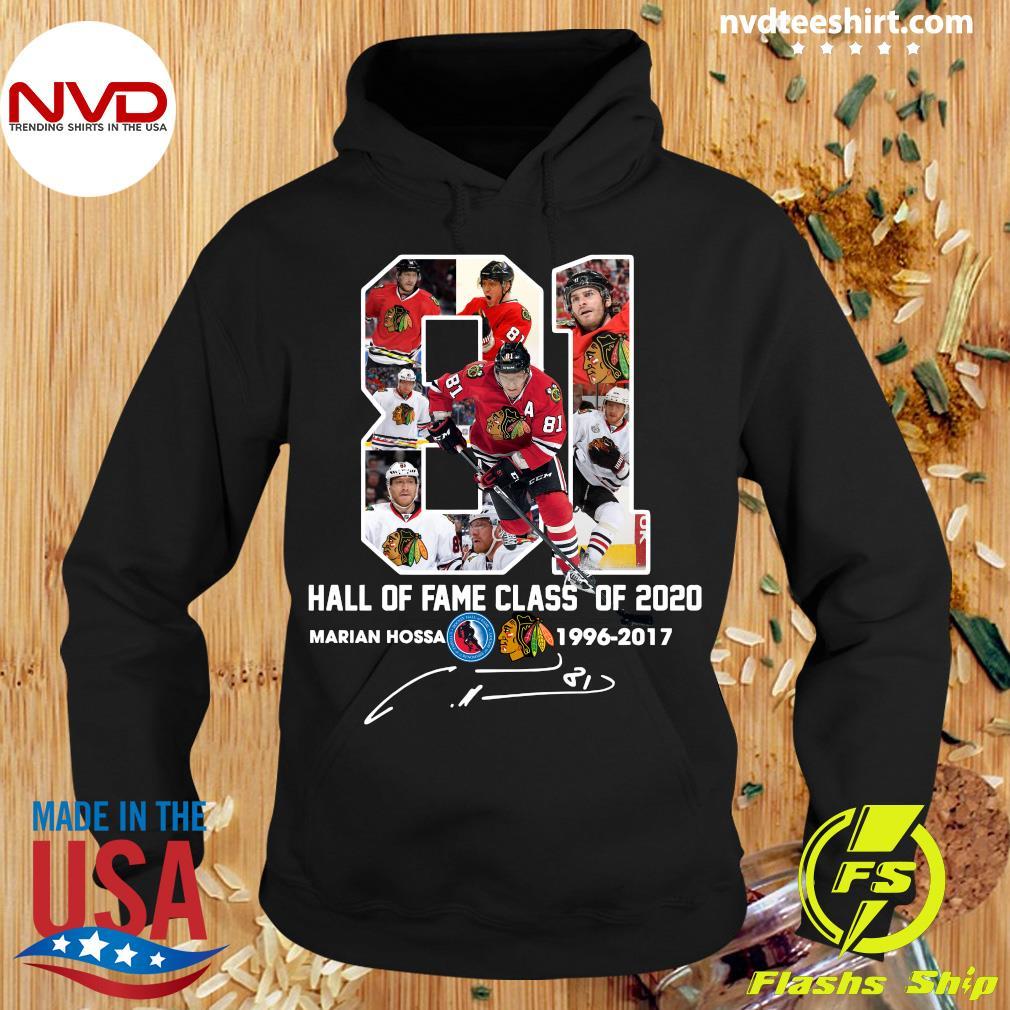 81 Hall Of Fame Class Of 2020 Marian Hossa Washington Redskins Shirt Hoodie