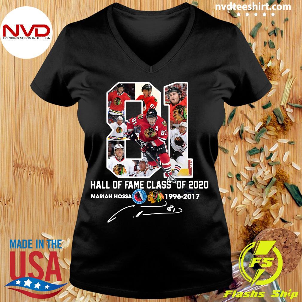 81 Hall Of Fame Class Of 2020 Marian Hossa Washington Redskins Shirt Ladies tee