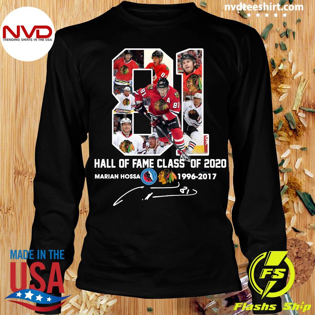 81 Hall Of Fame Class Of 2020 Marian Hossa Washington Redskins Shirt Longsleeve