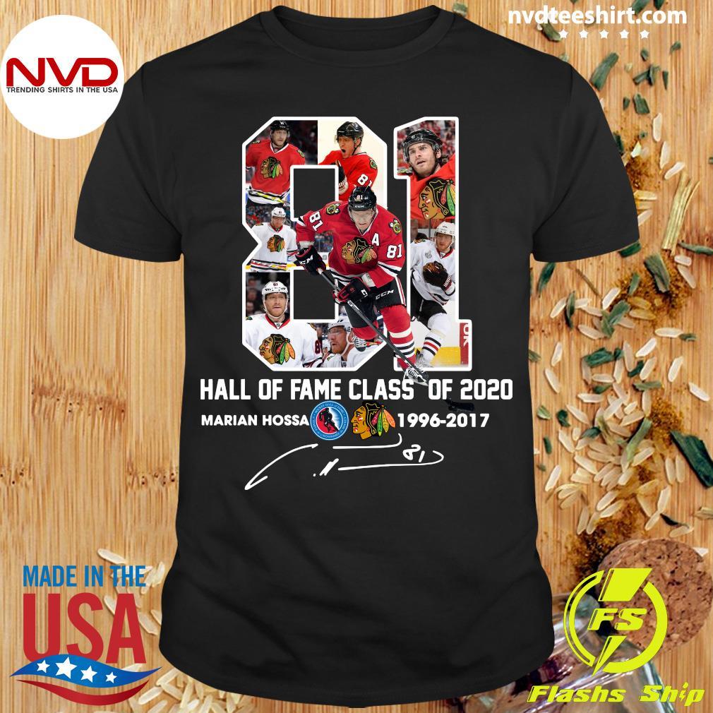 81 Hall Of Fame Class Of 2020 Marian Hossa Washington Redskins Shirt
