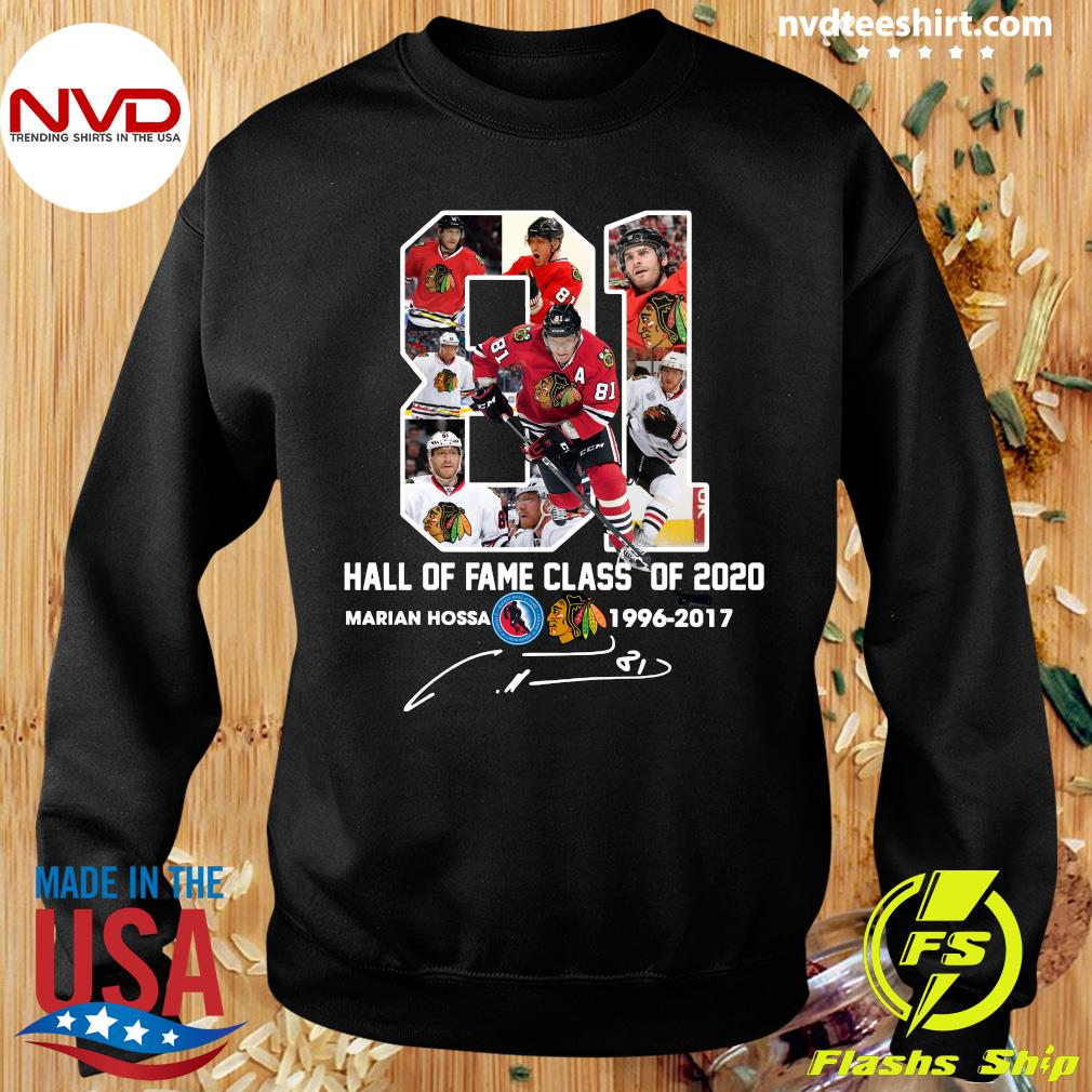 81 Hall Of Fame Class Of 2020 Marian Hossa Washington Redskins Shirt Sweater