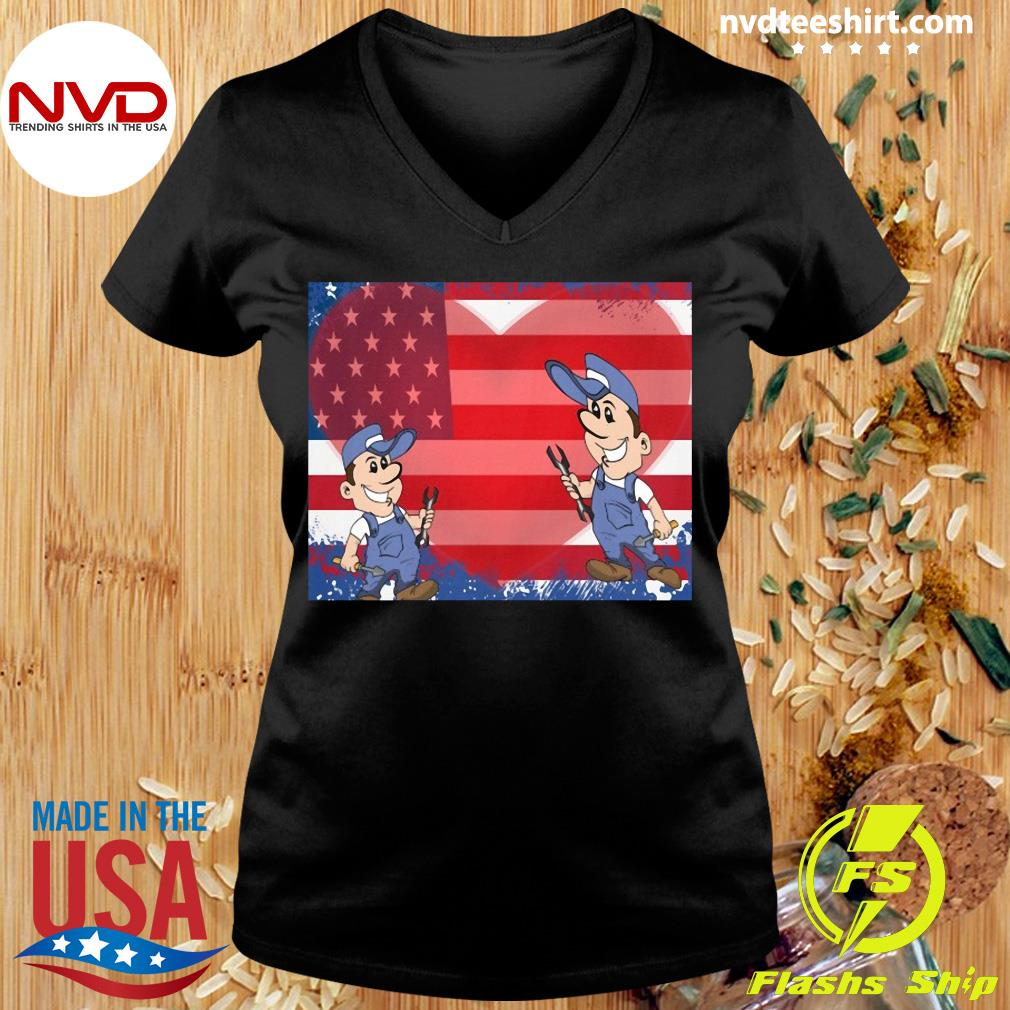 America Flag Fix Your Heart Shirt Ladies tee